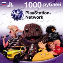 PlayStation Network Card - Карта 1000 рублей (RU)