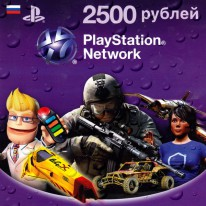 PlayStation Network Card - Карта 2500 рублей (RU)